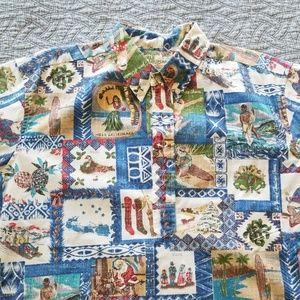 Reyn Spooner Christmas Hawaiian Shirt